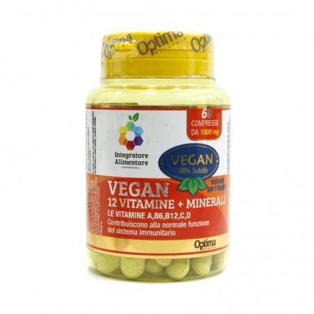 Optima Naturals - Vegan 12 Vit. 60 compresse